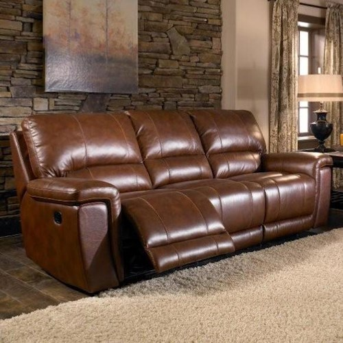 Htl 2678cs Reclining Leather 3 Seat Sofa Fashion