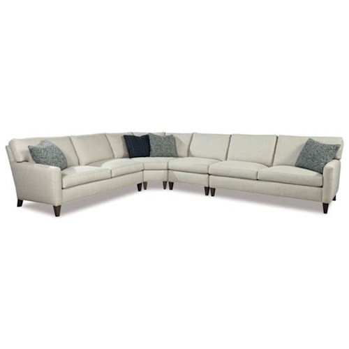 Huntington house harper modern four piece sectional sofa for 4 pcs sectional sofa