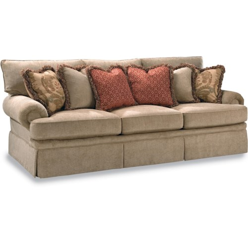 Huntington House 2081 Sofa With Low Profile Rolled Arm Wayside Furniture Sofas