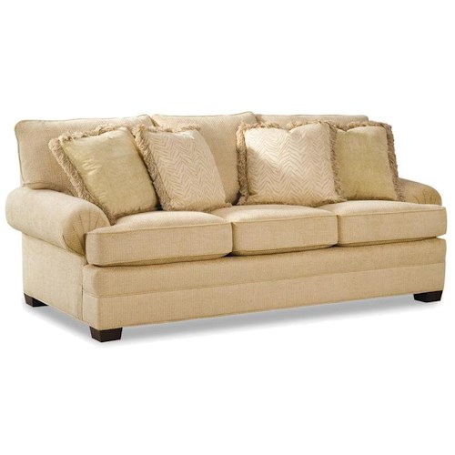 Geoffrey alexander 2061 upholstered sofa with low profile for Low height sectional sofa