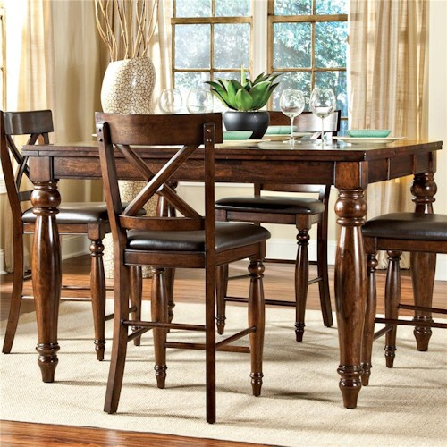 home dining room furniture pub table intercon kingston gathering table