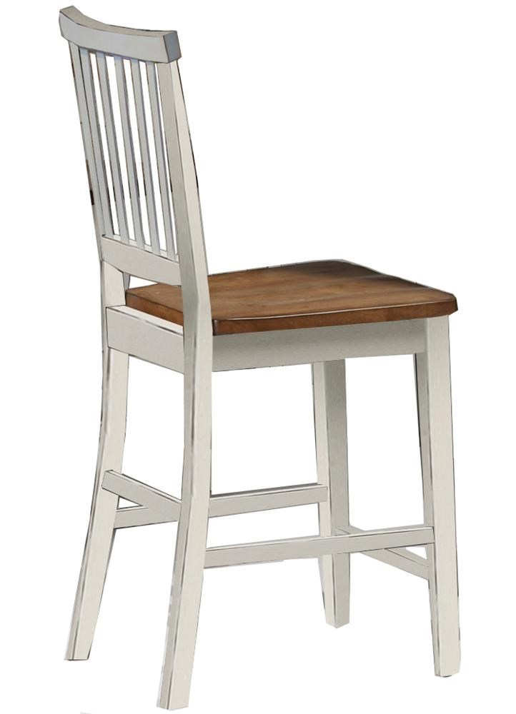 Intercon Arlington Slat Back 24 Inch Bar Stool Furniture