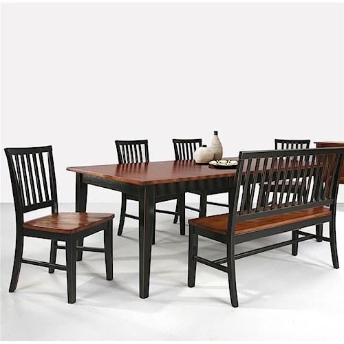 Intercon Arlington Four Leg Rectangular Dining Table Furniture Options New