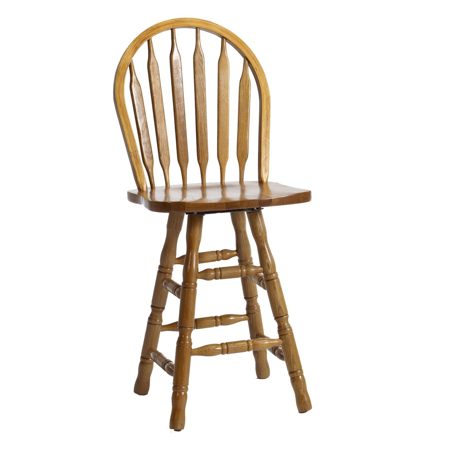 "Intercon Classic Oak 30"" Turned Arrow Back Stool with"