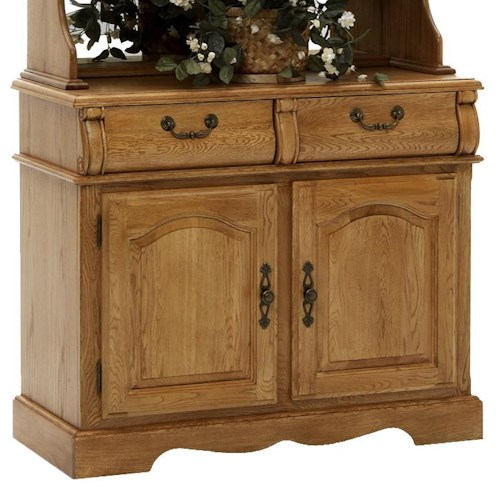Intercon Classic Oak 42 Buffet With Two Drawers Wayside Furniture Buffet