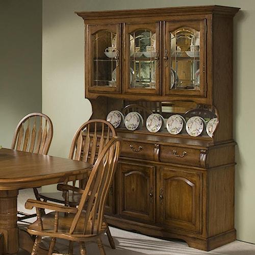 "Dining Room Hutch Cabinet: Intercon Classic Oak 60"" China Hutch With Three Half Doors"