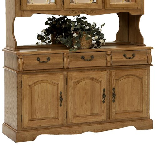 Intercon Classic Oak 60 Inch Buffet With Three Drawers And Doors Wayside Furniture Buffet