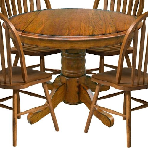 Intercon Classic Oak 42 Pedestal Table With Drop Leaves Wayside Furniture Dining Room Table