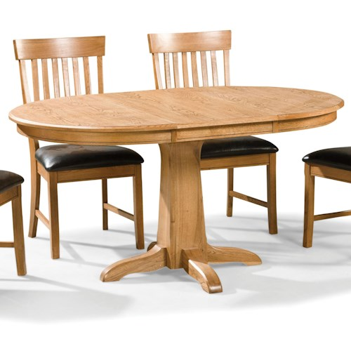 Intercon family dining round dining table with pedestal for Best dining tables for families