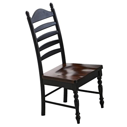 Intercon Hillside Village Ladder Back Side Chair Hudson
