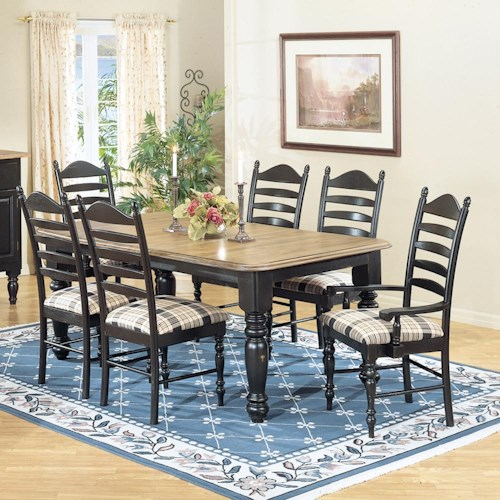 Intercon Hillside Village Four Leg Dining Table Hudson 39 S Furniture Dining Room Table Tampa
