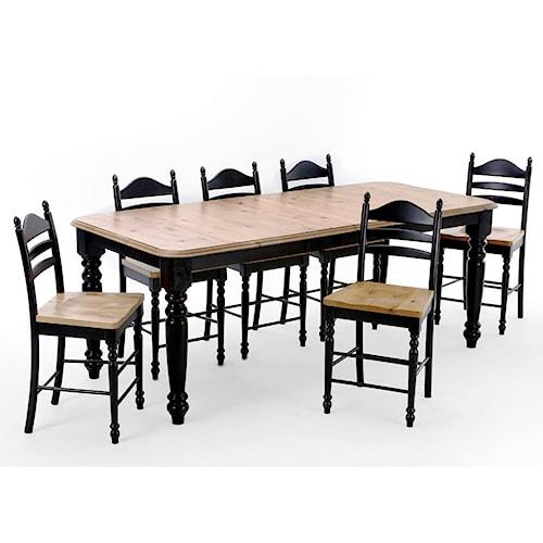 Intercon Hillside Village Four Leg Dining Table Hudson 39 S