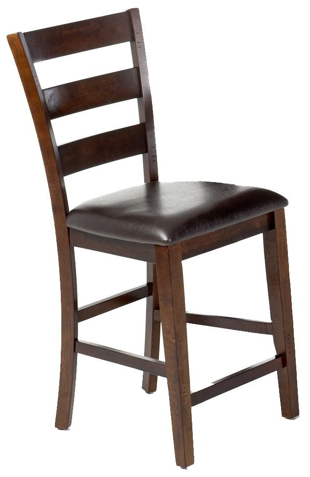 Intercon Kona 24u0026quot; Ladder Barstool w/PU Seat : Hudsonu0026#39;s Furniture : Bar Stool Tampa, St ...