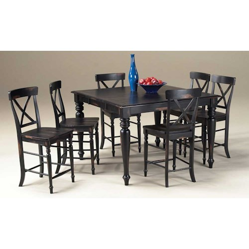Intercon Roanoke Small Gathering Table And Six Stoos Wayside Furniture Pub Table And Stool Set