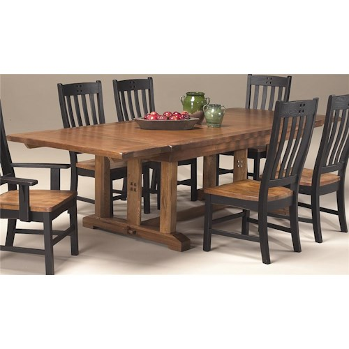 Intercon rustic mission refectory table hudson s