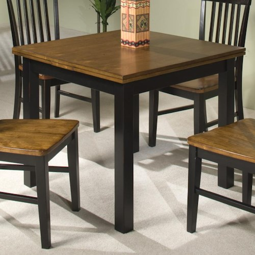 Intercon siena 36 x 36 64 refectory dining table for Dining room tables 36 x 54