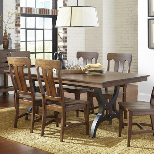 Intercon The District Dining Table With Leaf Wayside Furniture Dining Tables