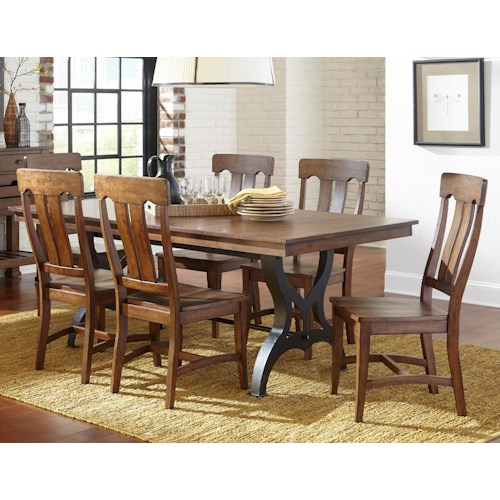 Intercon the district 5 piece table chair set with leaf for District 8 furniture