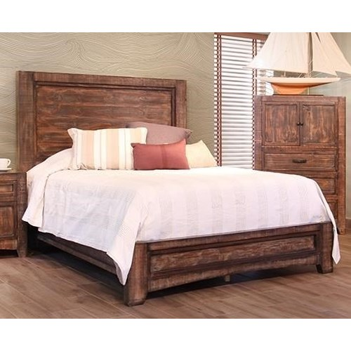 International furniture direct porto queen bed great for American furniture warehouse queen mattress