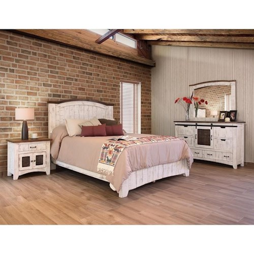 Bedroom Furniture Direct: International Furniture Direct Pueblo Queen Bedroom Group