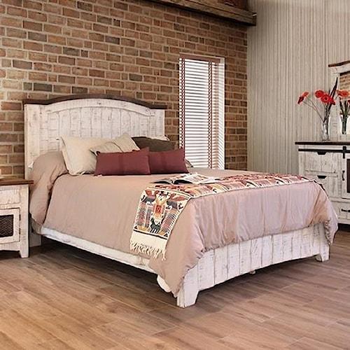 International furniture direct pueblo panel king bed with for International decor furniture
