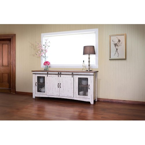 International Furniture Direct Pueblo 80 White Tv Console Great American Home Store Tv Stands