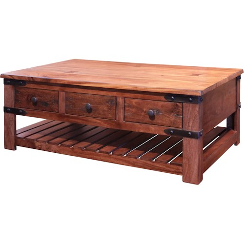 Indore Coffee Table With 6 Drawers: International Furniture Direct Parota Cocktail Table With