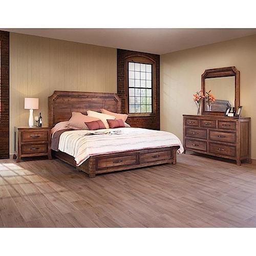 international furniture direct regal rustic queen bedroom
