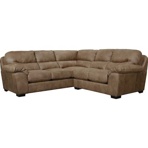Jackson furniture jordan sectional sofa standard for Sofa jordsand