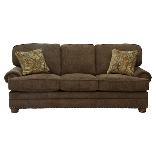 Jackson Furniture Braddock Sofa With Individually Driven Nail Heads Efo Furniture Outlet
