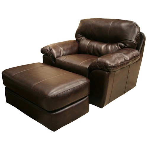 Jackson furniture brantley chair and ottoman set l fish for L fish furniture