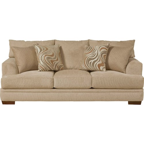 Jackson furniture crompton sofa with casual style l fish for L fish furniture