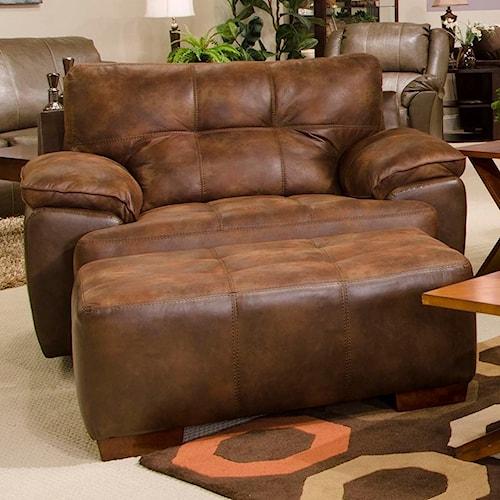 ... Chair and a Half & Ottoman - Wayside Furniture - Chair & Ottoman ...