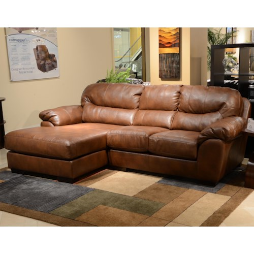 Jackson furniture lawson three seat sectional sofa with for Jackson furniture sectional sofa