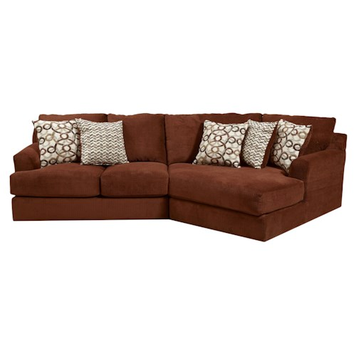 Jackson furniture malibu small three seat sectional sofa for Jackson furniture sectional sofa
