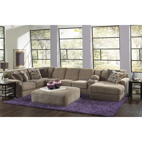 Jackson furniture malibu six seat sectional sofa with for Jackson furniture sectional sofa