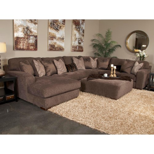 Jackson Furniture Melia Five Seat Sectional Sofa With Chaise On Left Side Efo Furniture Outlet