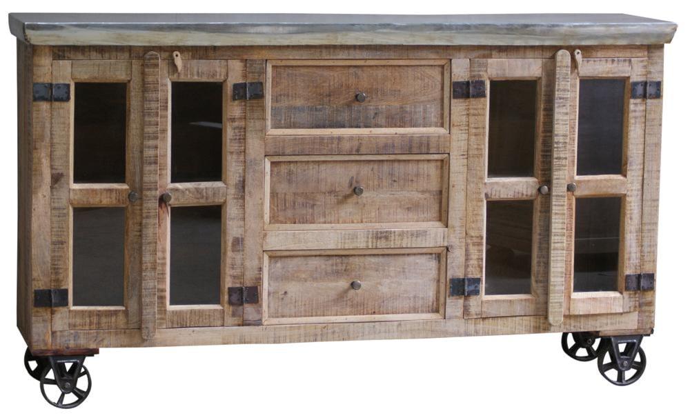 morris home furnishings copenhagen sideboard with wheels