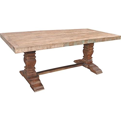 Jaipur furniture guru vintage pedestal dining table for Dining room tables jackson ms