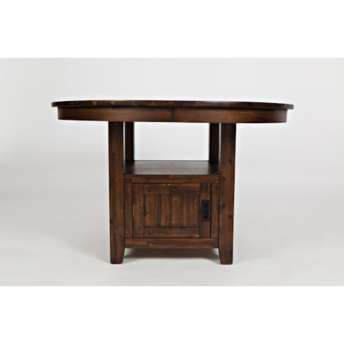 """Jofran Chadwick Counter Height Table With Corner Bench And: Jofran Coolidge Corner 48"""" Round High/Low Table"""