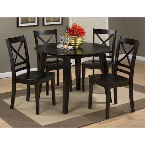 dining room furniture dining 5 piece set jofran simplicity round table