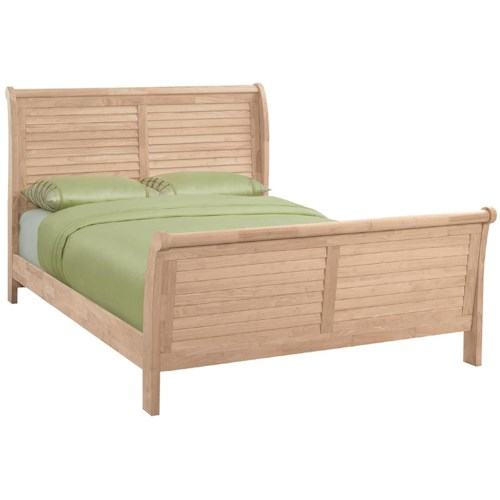 John Thomas Select Bedroom Queen Louvered Sleigh Bed Furniture Barn Sleigh Bed Pennsville