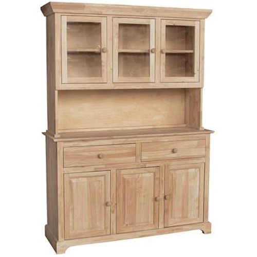 John Thomas Select Dining 6 Door 3 Drawer Buffet Hutch Reeds Furniture China Cabinet