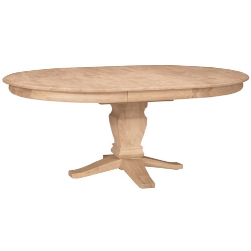 John Thomas SELECT Dining Butterfly Leaf Oval Pedestal Table Reeds Furnitur