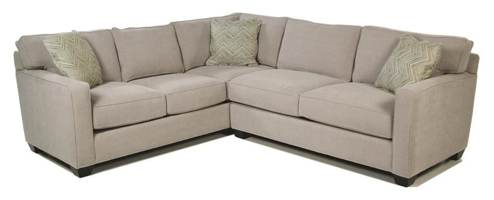 Heavenly 2 Piece Stationary Sectional Rotmans Sofa