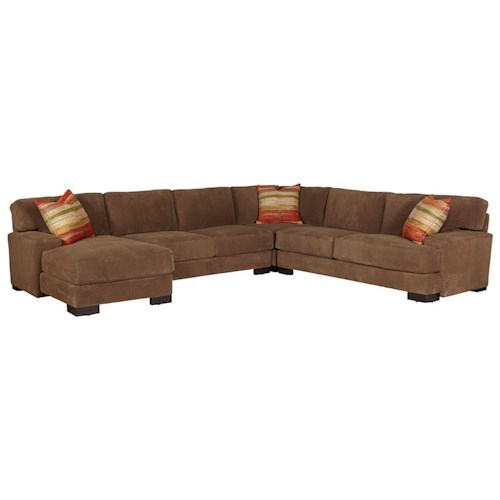 Jonathan Louis Burton Casual Sectional Sofa With Low Track Arms Bennett 39 S Home Furnishings