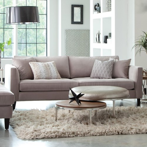 Jonathan Louis Calista Modern Estate Sofa With Tufted Seat And Toss Pillows Bennett 39 S Home