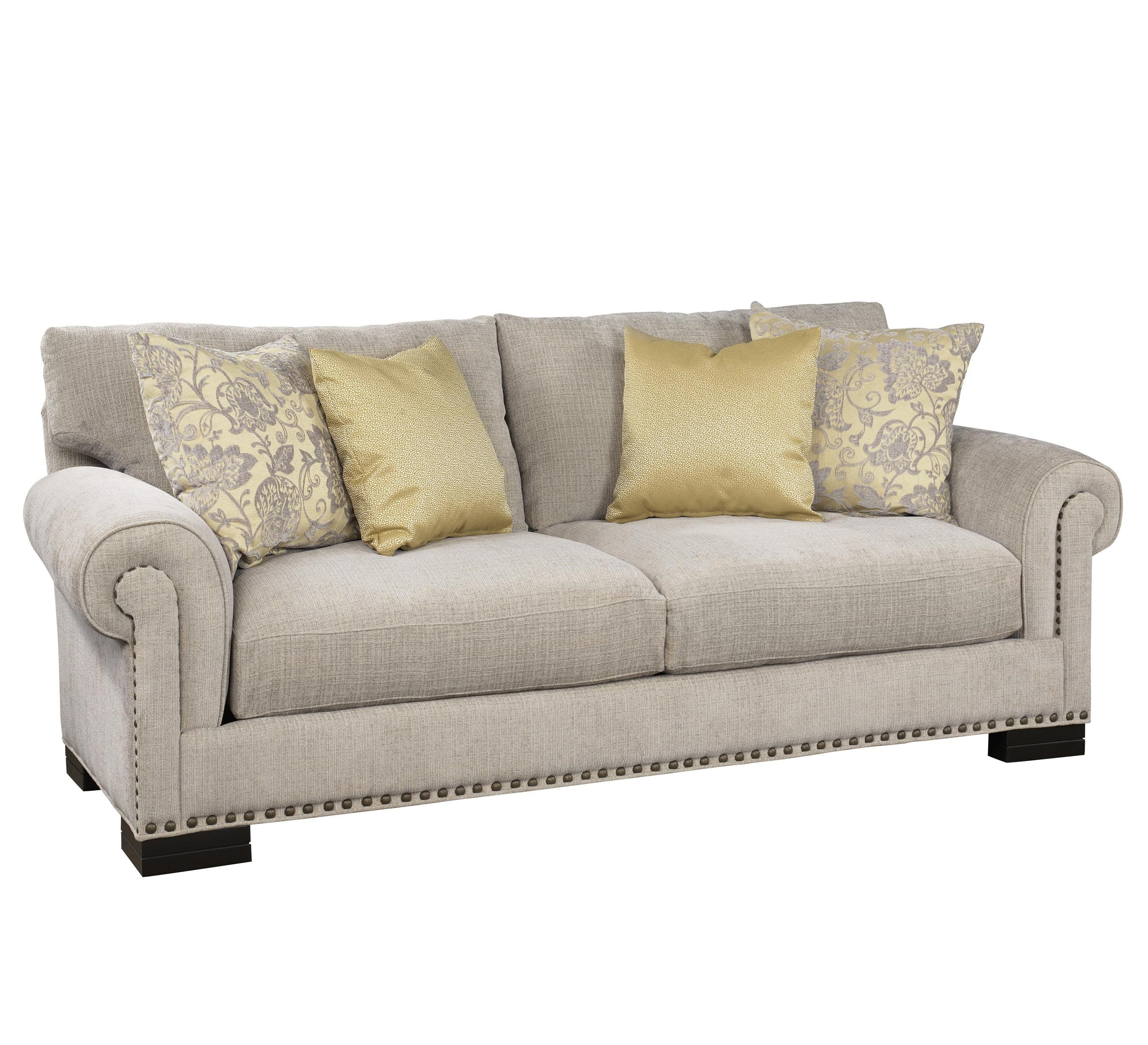 Jonathan Louis Crawford Stationary Sofa with Nailhead Trim
