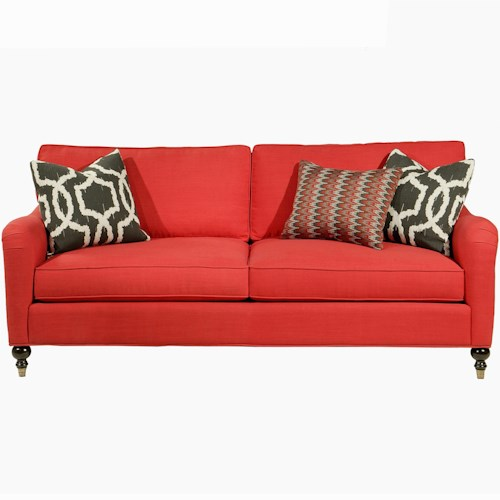 Jonathan Louis Eames Transitional Sofa With Pleated Rolled Arms Bennett 39 S Home Furnishings