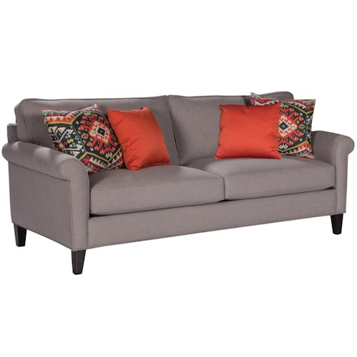 Jonathan Louis Kristen Contemporary Sofa With Rolled Arms And 4 Throw Pillows Bennett 39 S Home
